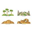 madagascar landmarks or africa natural icon set vector image