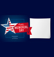memorial day remember honor banner template vector image vector image