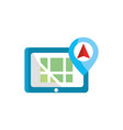 mobile pin arrow gps map and navigation vector image vector image