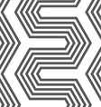 Monochrome hexagonal zigzag vector image vector image