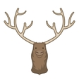 Moose head icon cartoon style vector image