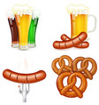 Oktoberfest Themes with Beer and Snack