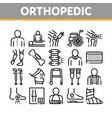 orthopedic collection elements icons set vector image vector image