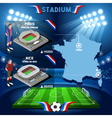 Paris Nice Stadium Infographic vector image vector image