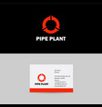 pipes logo pipes emblem pipeline icon vector image vector image