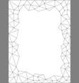 polygonal fractal triangle web pattern frame vector image