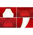 red velvet curtains vector image vector image