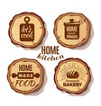 retro kitchen cooking at home and handmade badges vector image vector image