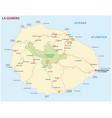 road map canary island la gomera vector image vector image