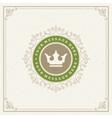 Royal Logo Design Template Flourishes vector image