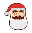santa claus head character vector image
