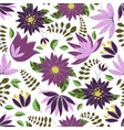 seamless pattern with floral romantic elements vector image