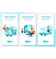 set online tutorial school learning process vector image vector image
