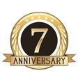 Seven Year Anniversary Badge vector image