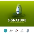 Signature icon in different style vector image