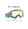 ski googles sketch for your design vector image vector image