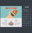 sports infographic template elements and icons vector image vector image