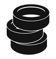 stack of tire icon simple style vector image