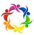 teamwork group of friends logo vector image vector image