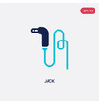 two color jack icon from electronic devices vector image