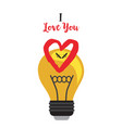 two mosquitoes in a light bulb with a heart vector image vector image
