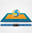 volleyball court background vector image vector image