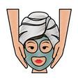woman in spa vector image vector image