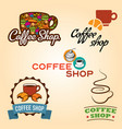 coffee shop emblem collection vector image