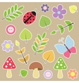 Set of autumn scrapbook elements vector image