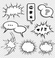 0030 comic elements set2 vector image vector image