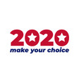 2020 united states america presidential vector image vector image