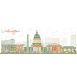 Abstract Washington DC Skyline vector image