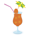 alcohol cocktail with umbrella vector image vector image