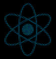 atom collage icon of halftone bubbles vector image