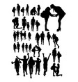 back to school silhouette vector image