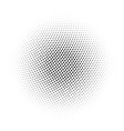 black abstract halftone circle made of dots in vector image vector image