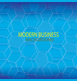 blue modern technology background vector image