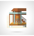 Bungalow exterior flat color design icon vector image vector image