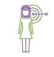 businesswoman with targert arrow solution vector image