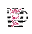 coffee cup silhouette vector image