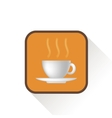 Coffee Icon Long Shadow vector image