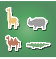color icons with wild animals vector image