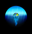 conceptual on theme global warming on vector image