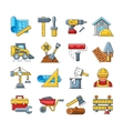 Construction icons or home repair tools signs in vector image