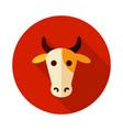 cow icon animal head vector image vector image