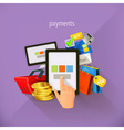 E-commerce and payments flat design Set i vector image vector image