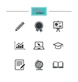 Education and study icon Presentation signs vector image vector image