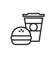 Fast Food Icon Outlined vector image