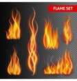 Fire on transparent background vector image