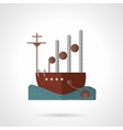 Flat navy vessel icon vector image